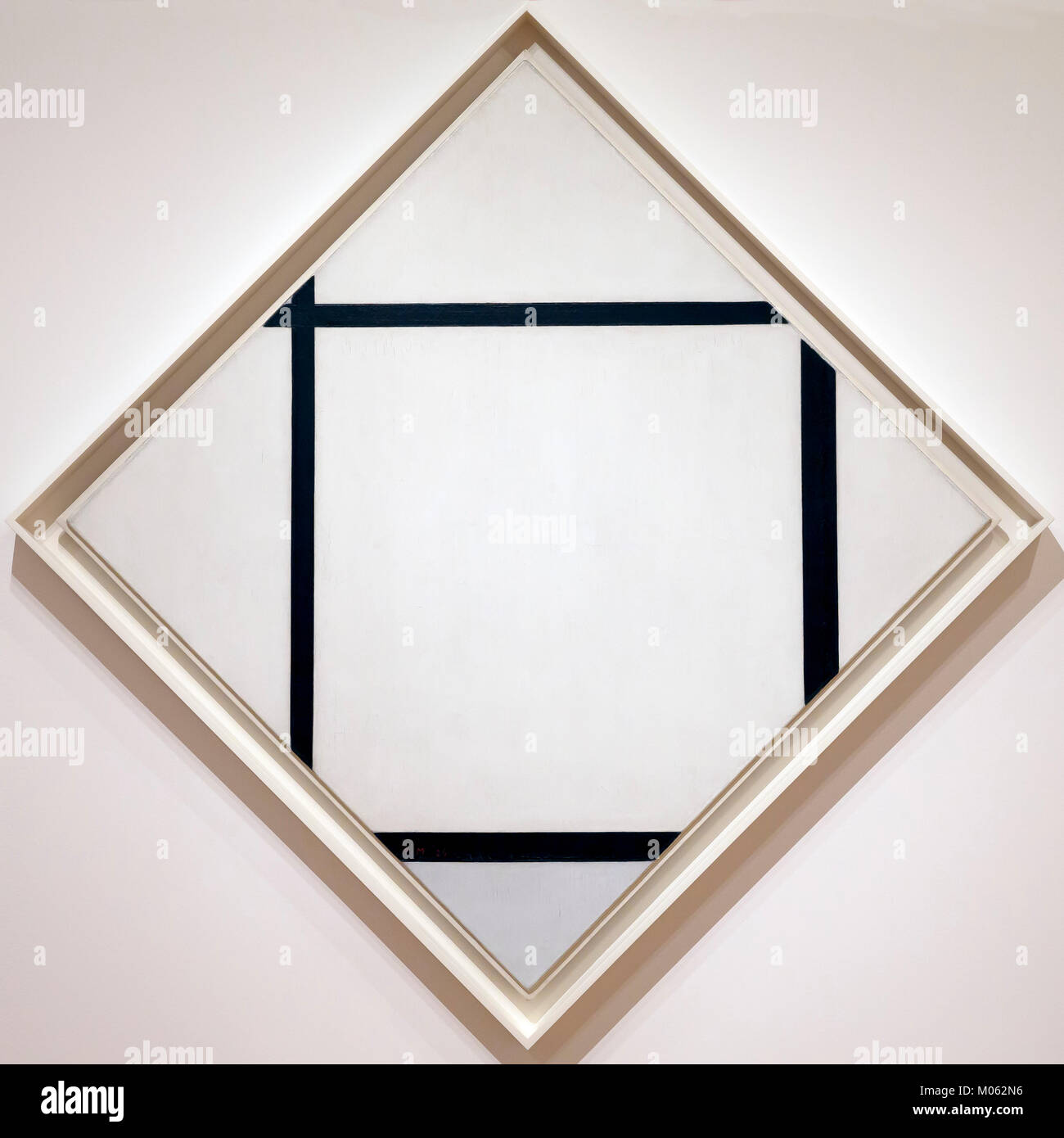 Tableau 1, Lozenge with Four Lines and Gray, Piet Mondrian, 1926, - Stock Image
