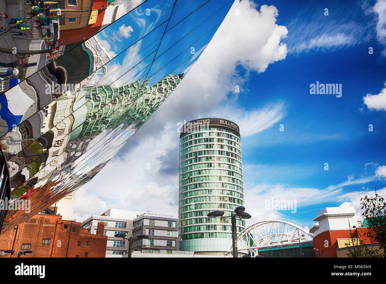 Birmingham New Street Station, looking towards the Bull Ring, Birmingham, UK. - Stock Image