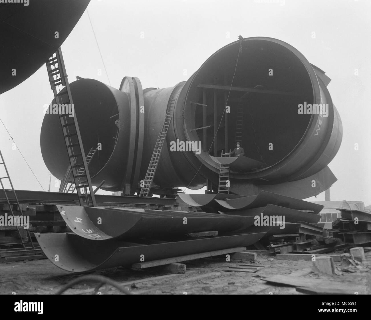 Bouw windtunnel Nationaal Luchtvaartlaboratorium Amsterdam, Bestanddeelnr 908-1554 Stock Photo