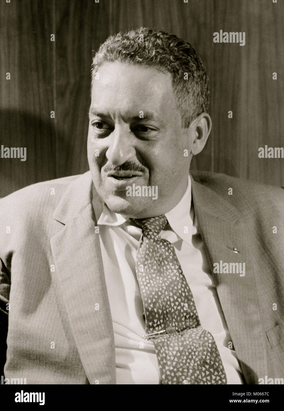 Thurgood Marshall, attorney for the NAACP - Stock Image