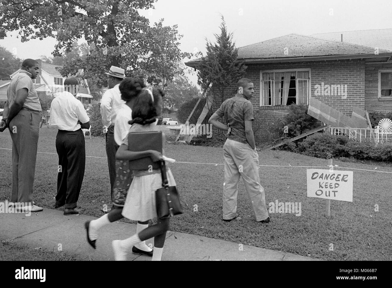 Bomb-damaged home of Arthur Shores, NAACP attorney - Stock Image