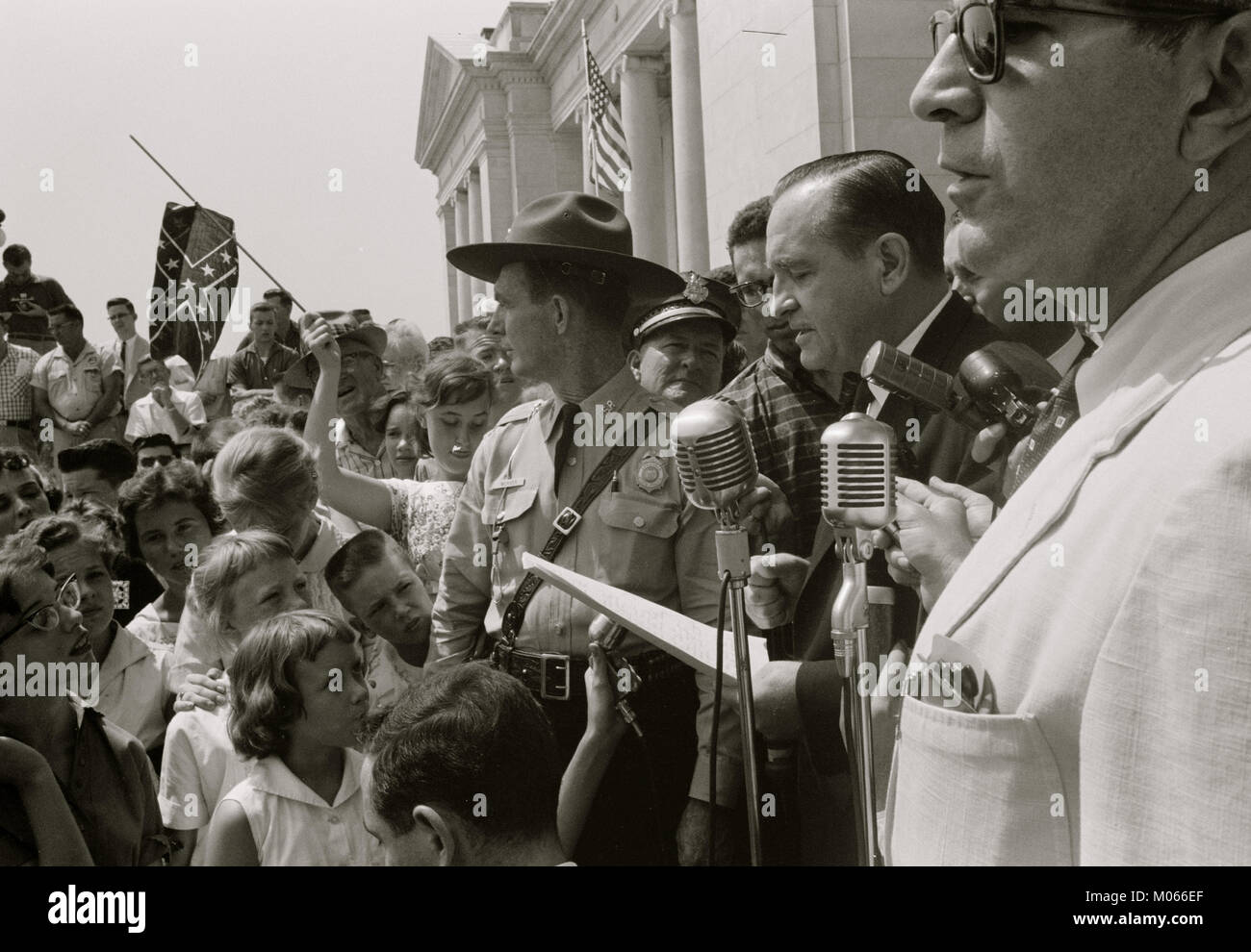 Little Rock, 1959. Rally at state capitol - Stock Image