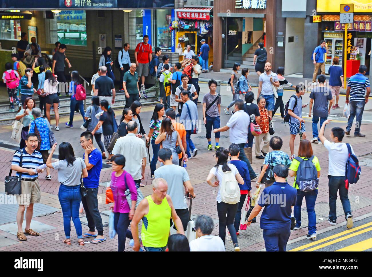 street scene Hong Kong island, China - Stock Image