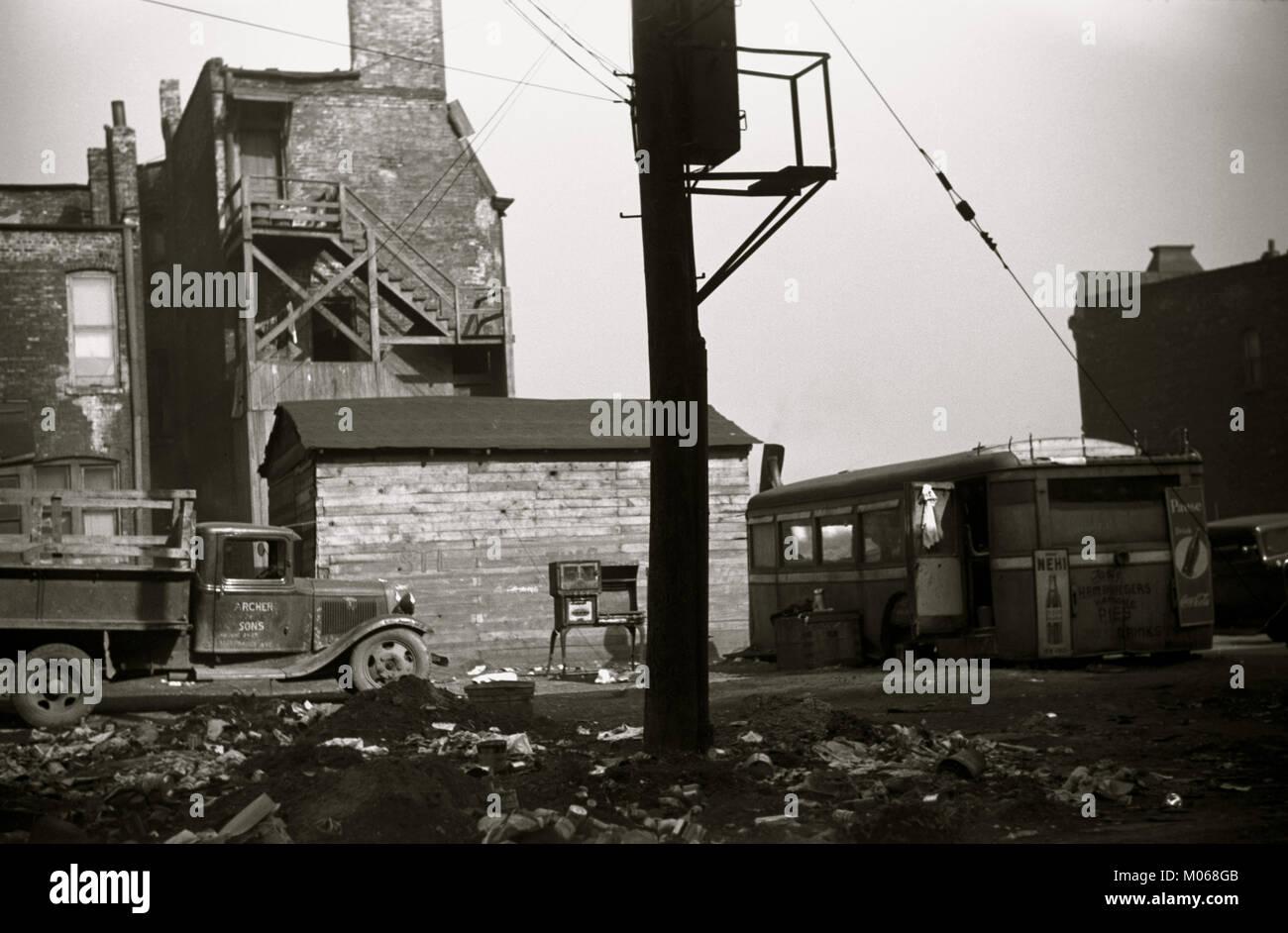 African American Scrap Yard - Stock Image