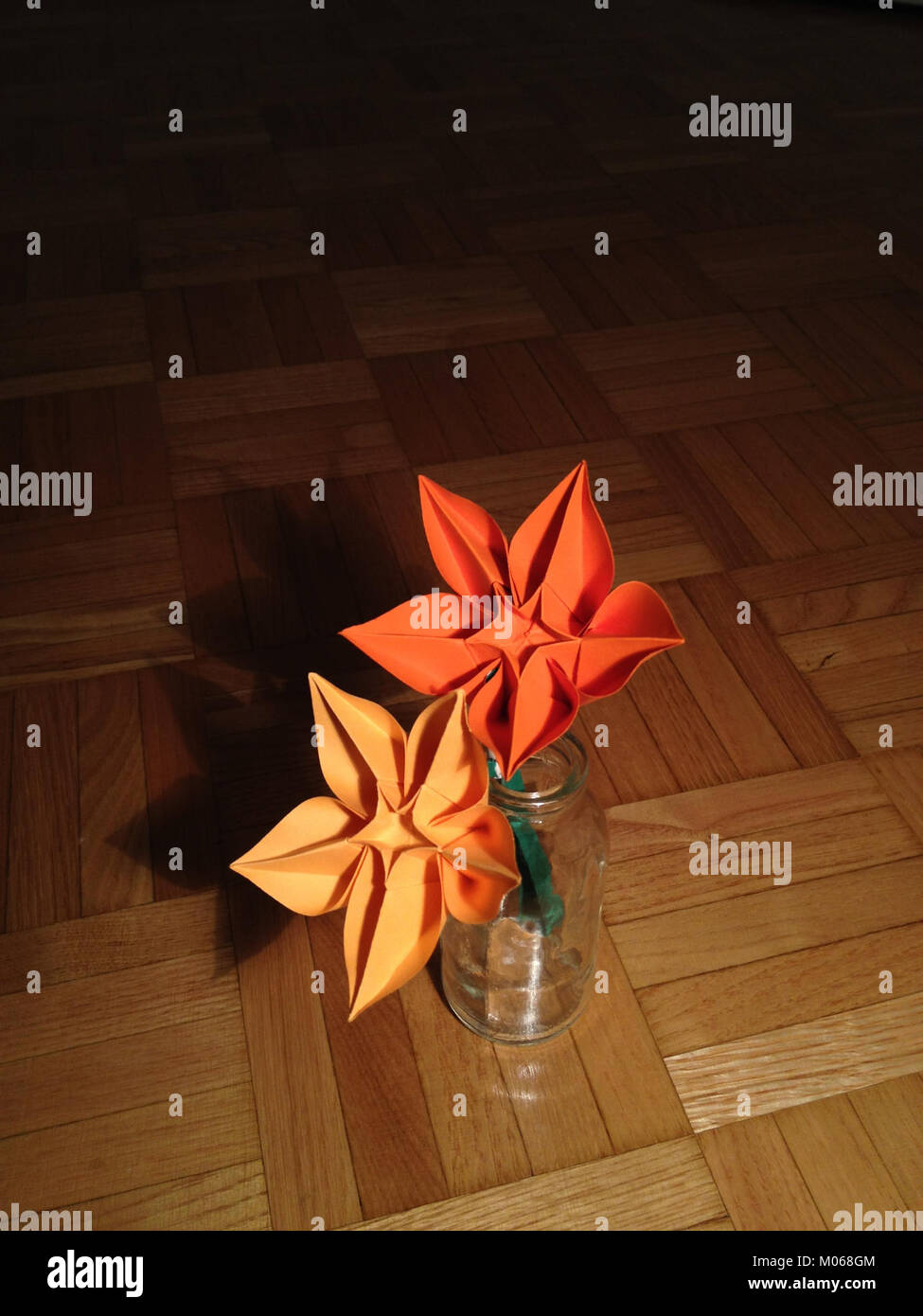 Bouquet Of Origami Flower Carambola Stock Photo 172242132 Alamy