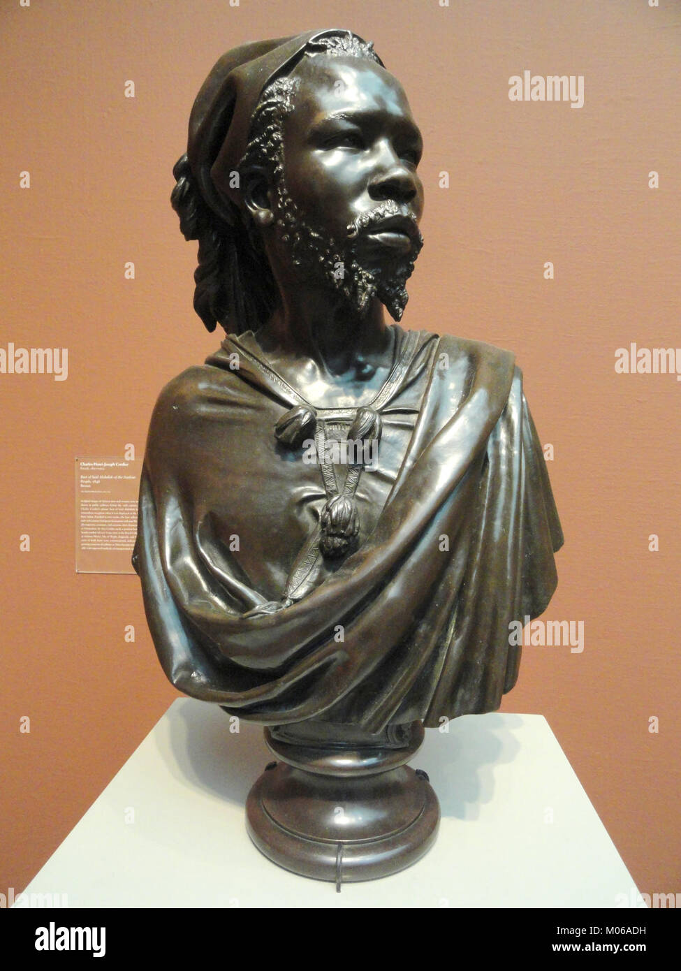 Bust of Said Abdullah of the Darfour People, 1848, by Charles-Henri-Joseph Cordier, bronze - Art Institute of Chicago Stock Photo