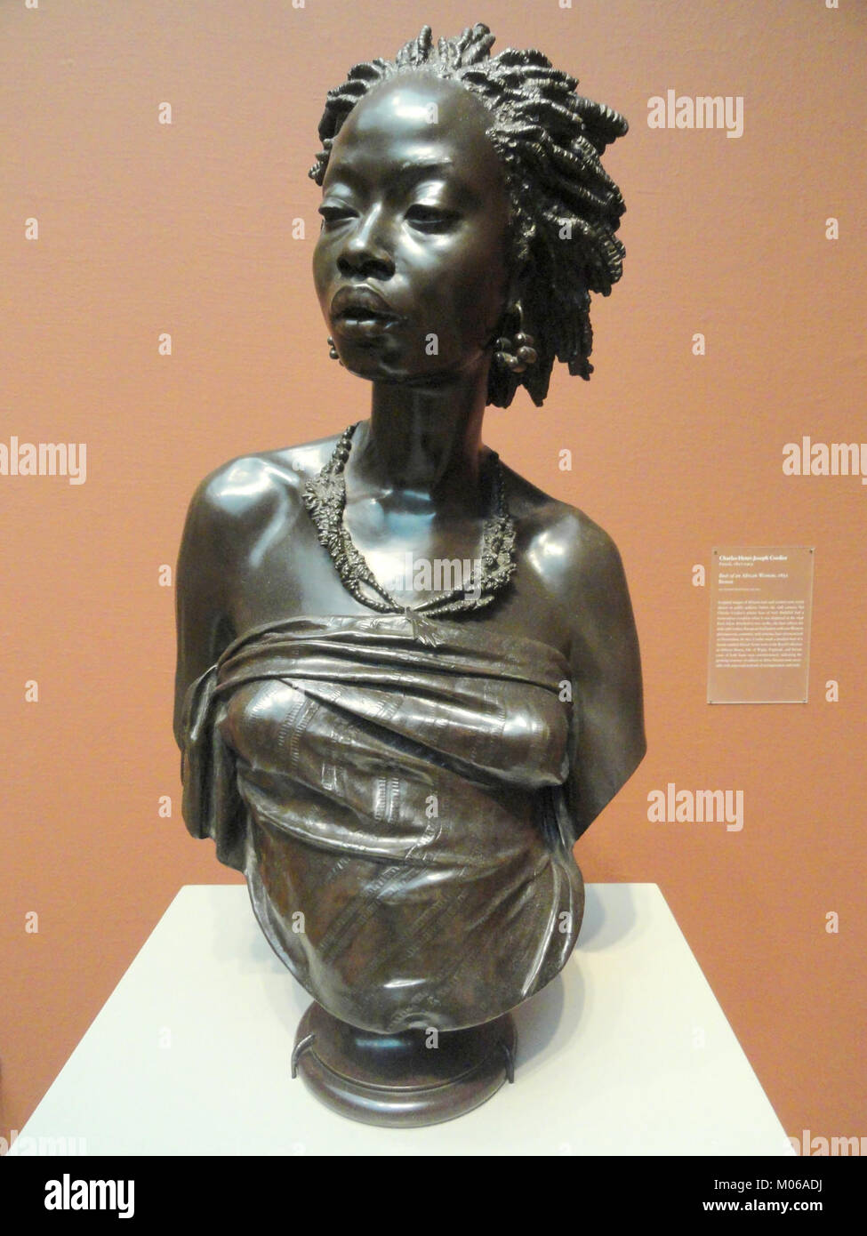 Bust of an African Woman, 1851, by Charles-Henri-Joseph Cordier, bronze - Art Institute of Chicago - DSC09587 - Stock Image