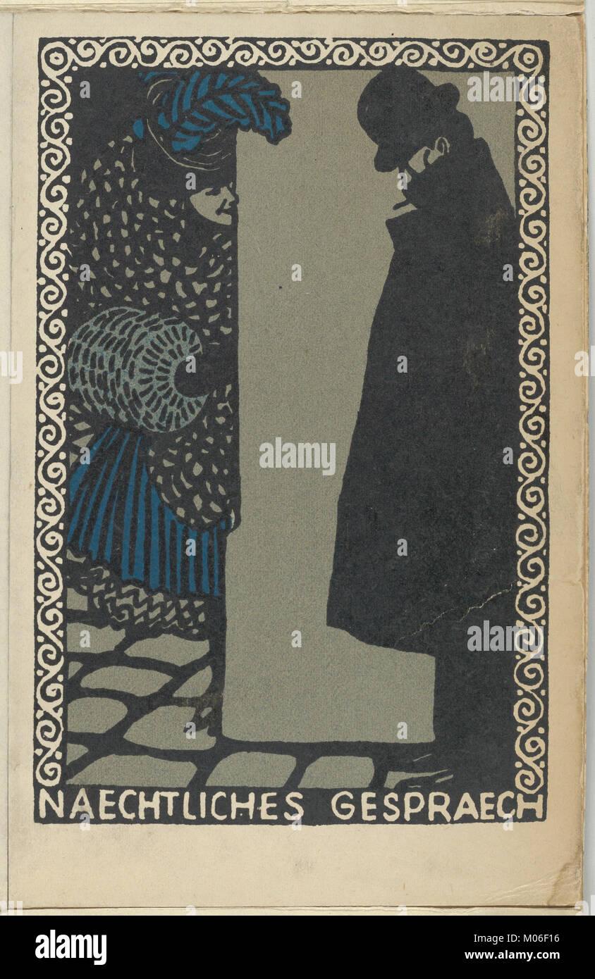 Nightly Conversations (Naechtliches Gespraech) MET DP843830 - Stock Image