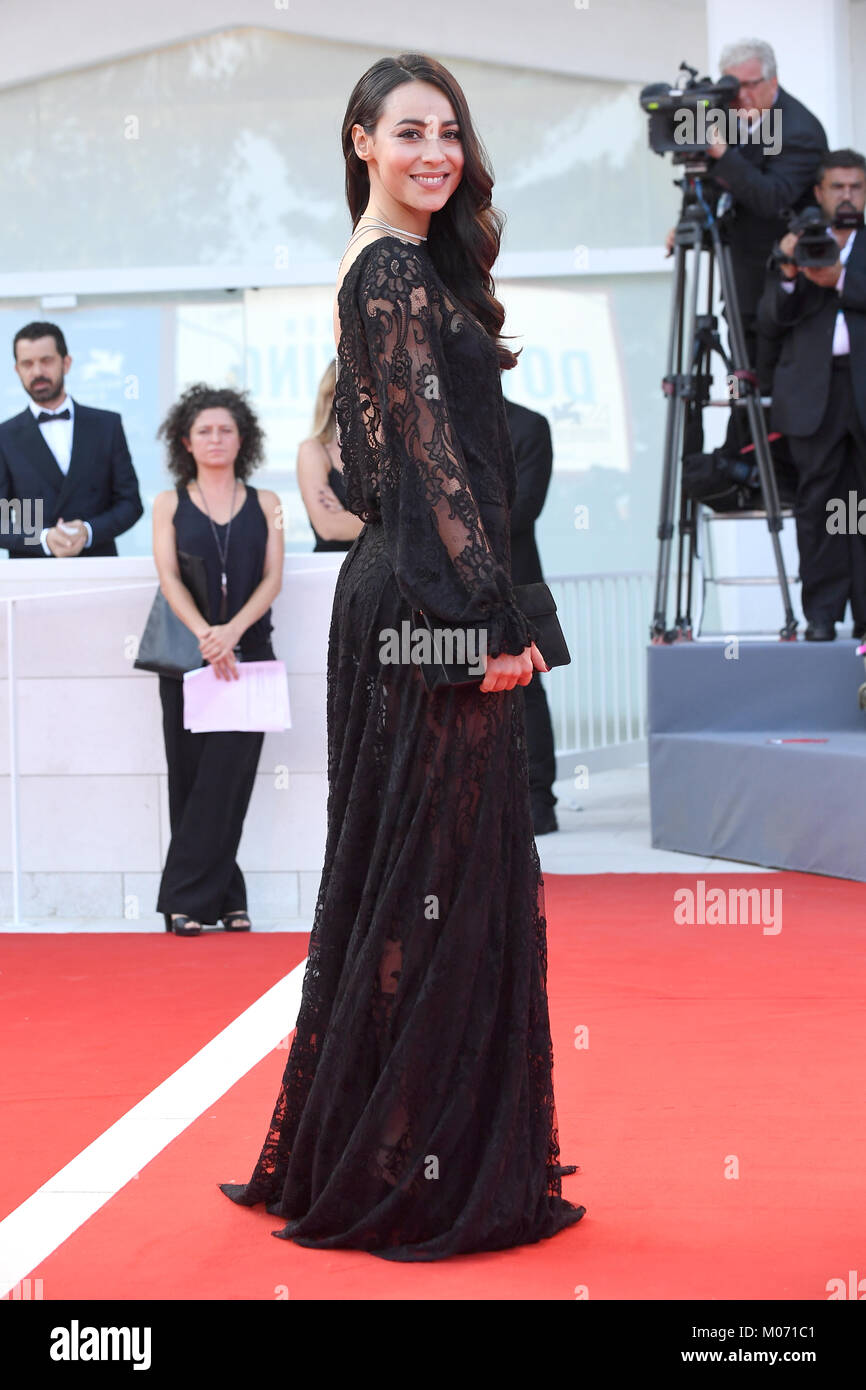 Desiree Noferini attends the Opening ceremony and Downsizing Premiere during the 74th Venice Film Festival in Venice, - Stock Image