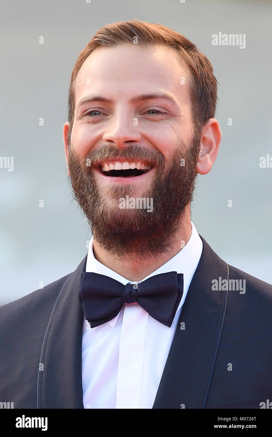 Alessandro Borghi attends the Opening ceremony and Downsizing Premiere during the 74th Venice Film Festival in Venice, - Stock Image