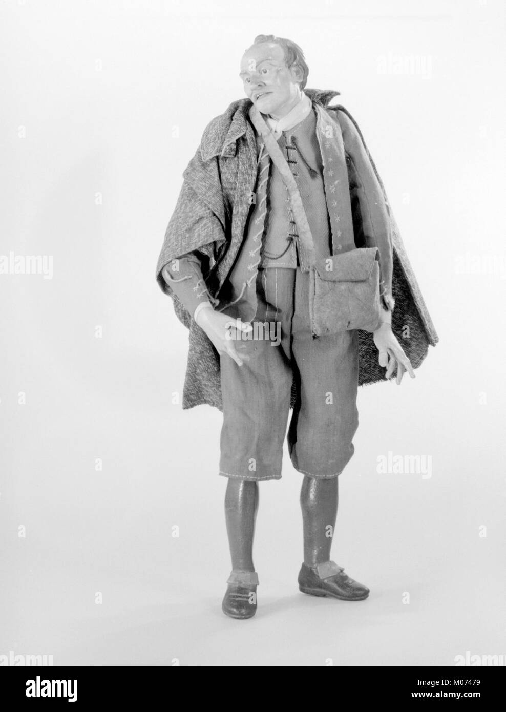 Man with cape and leather pouch MET 213512(2) - Stock Image