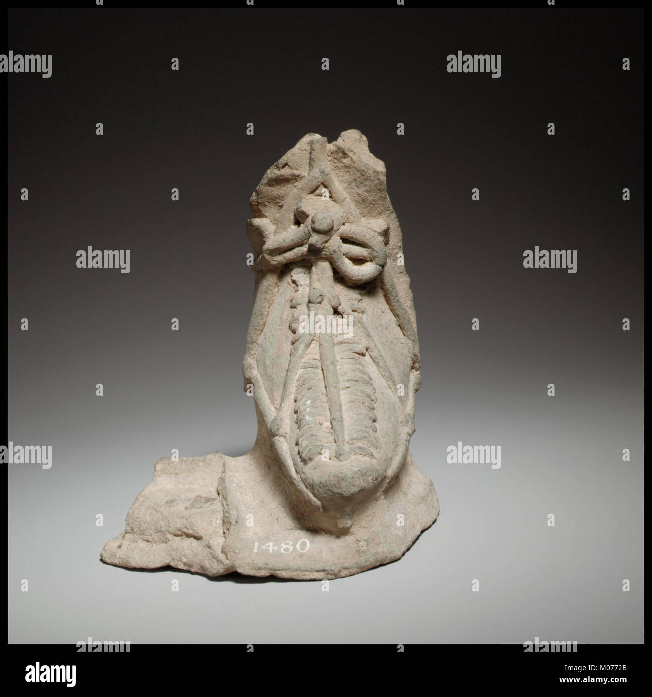 Left foot, possibly from a relief MET DP100584 - Stock Image