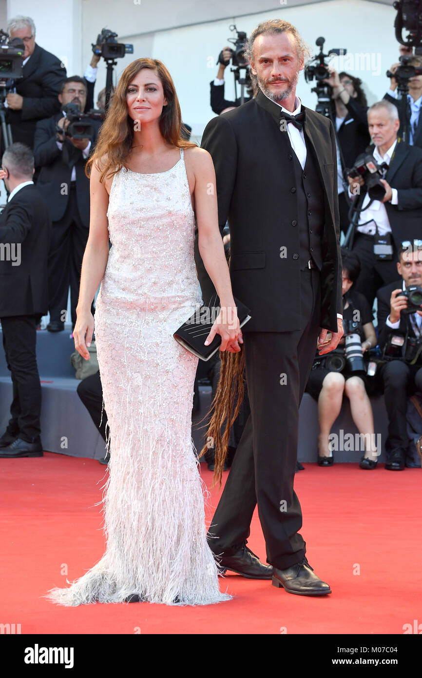 Anna Mouglalis attends the Opening ceremony and Downsizing Premiere during the 74th Venice Film Festival in Venice, - Stock Image