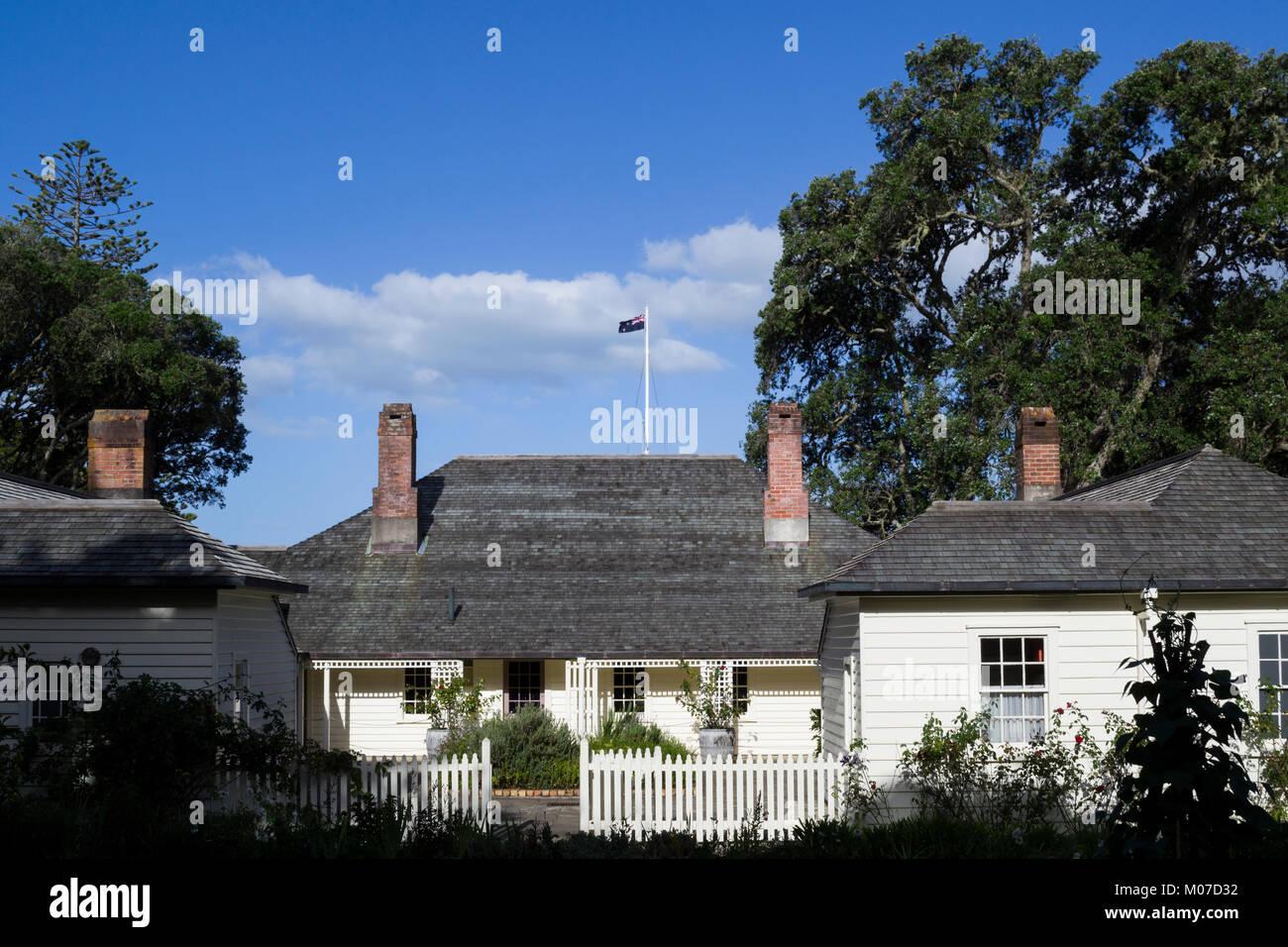 Waitangi, New Zealand. Treaty House - Stock Image