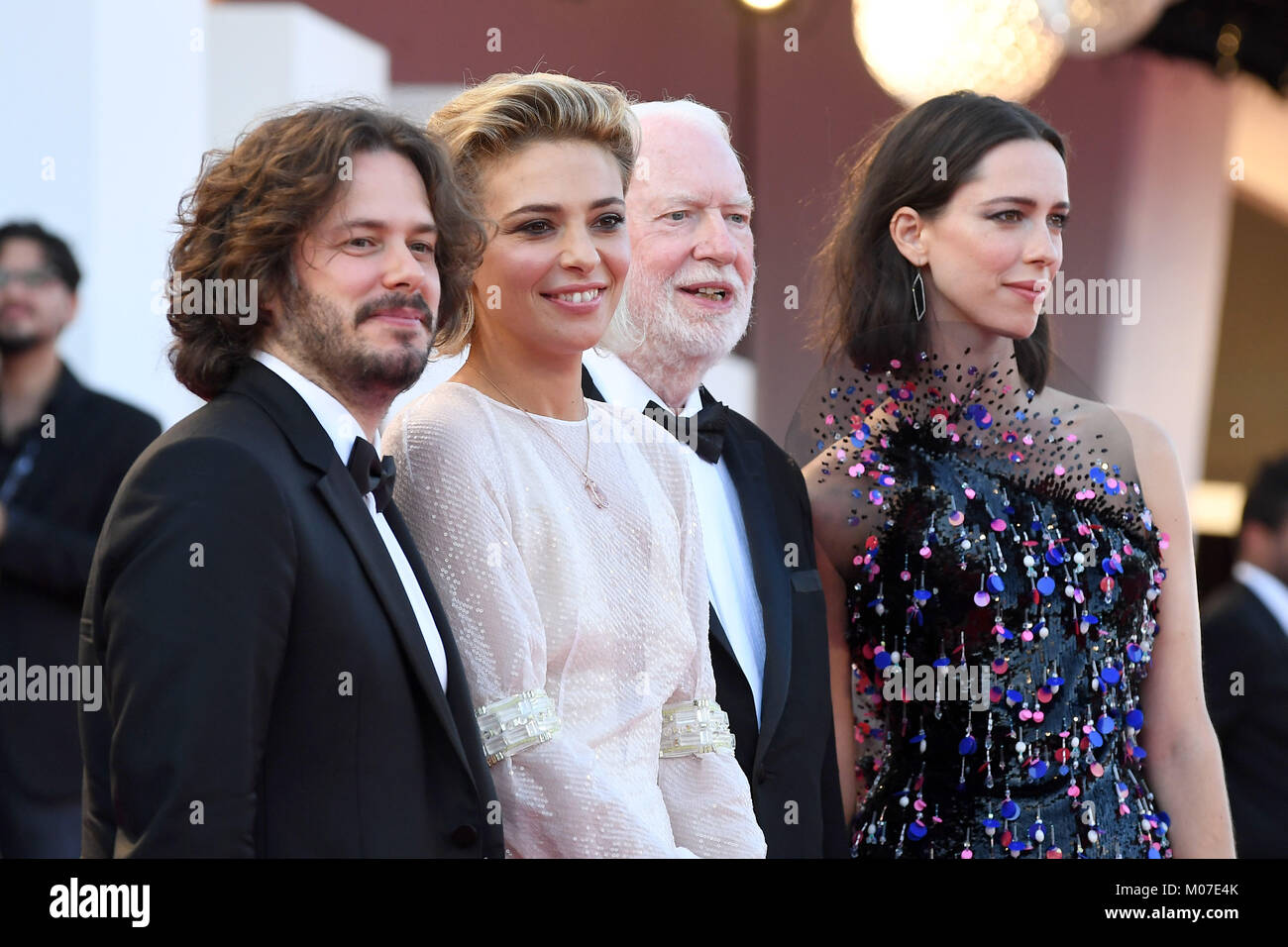Edgar Wright, Jasmine Trinca, David Stratton & Rebecca Hall attend the Opening ceremony and Downsizing Premiere, - Stock Image