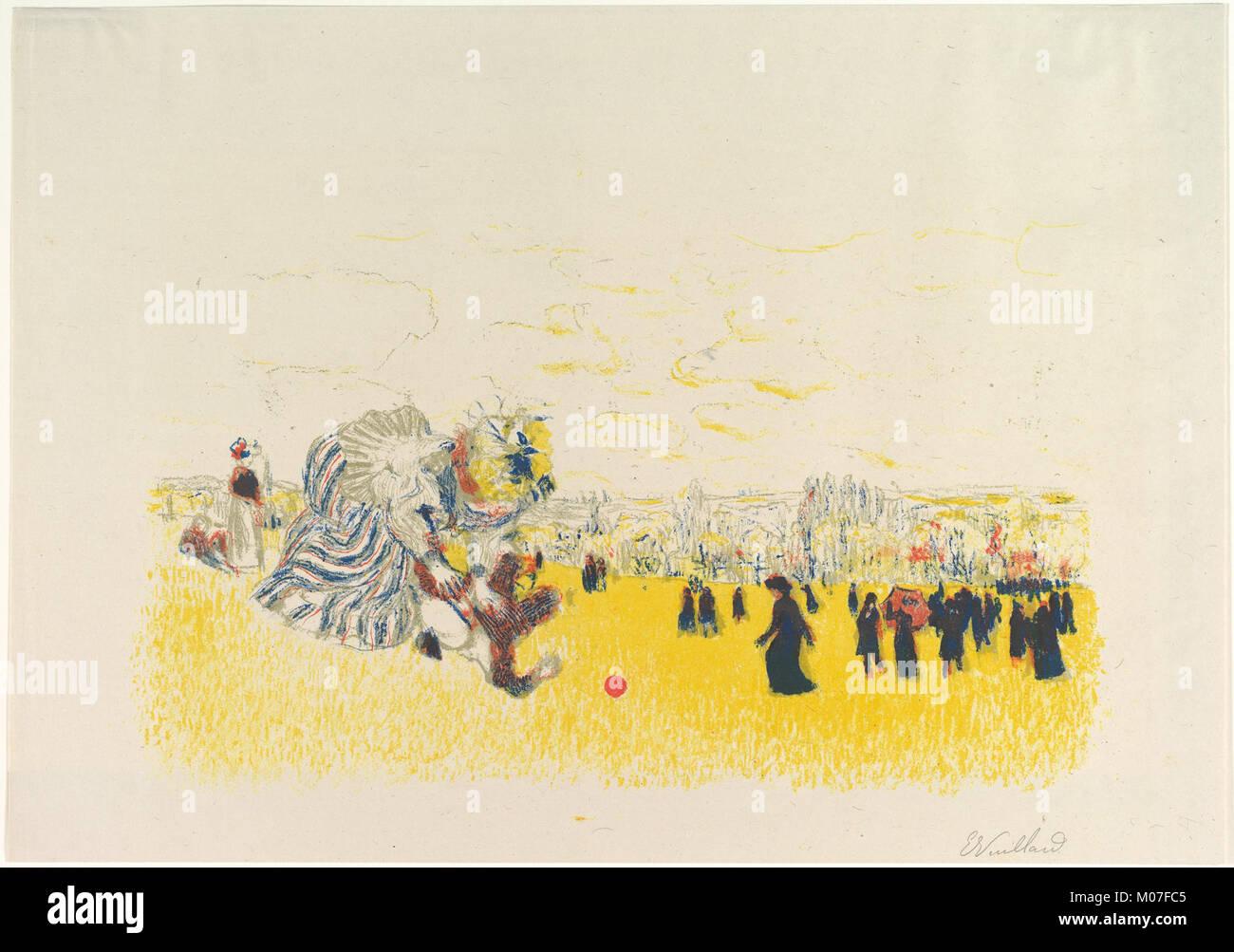 Jeux d'enfants (Children's Games), from the Album des Peintres-Graveurs (Paris- Vollard, 1897) MET DP827228 - Stock Image
