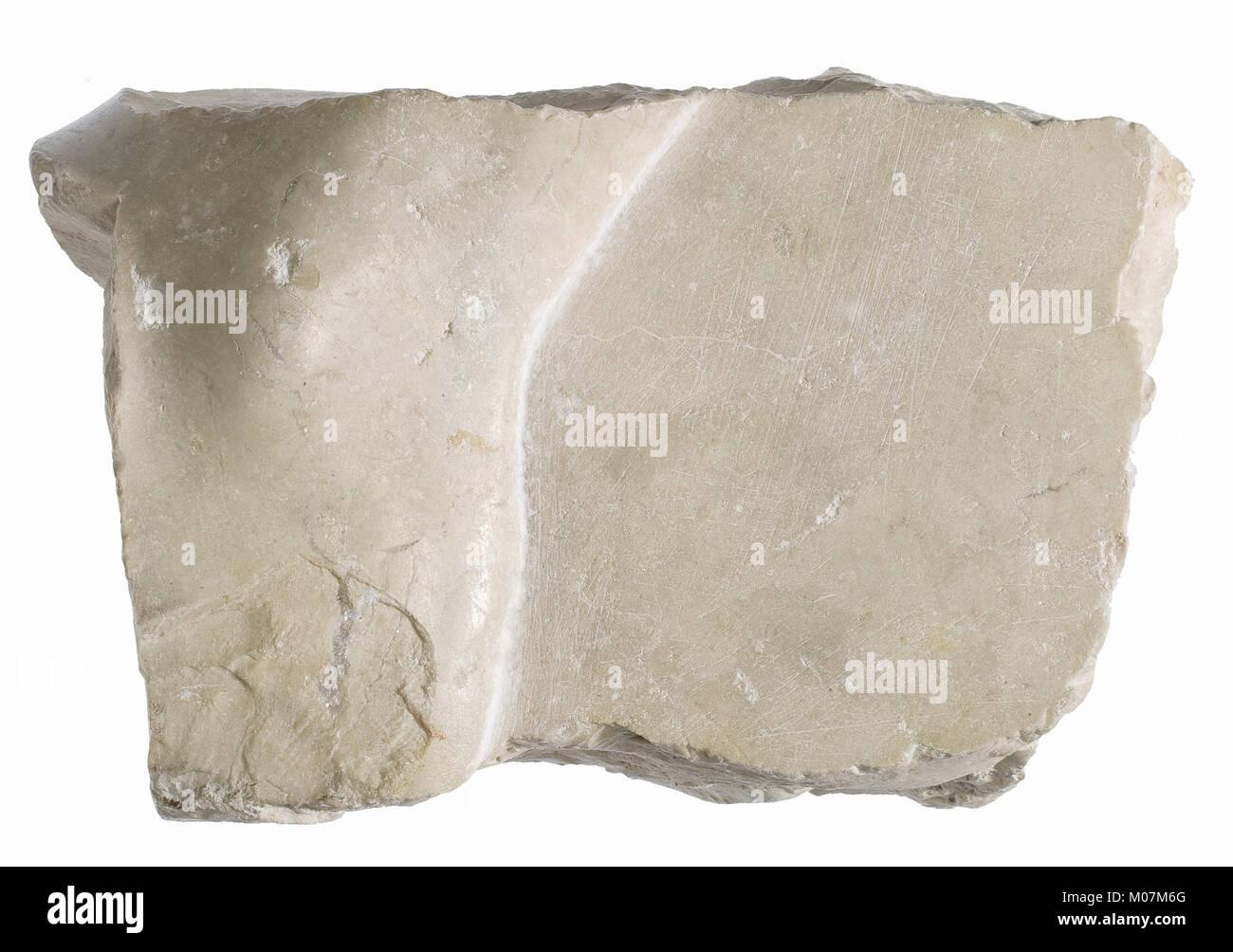 Left foot fragment MET 21.9.592 view 1 - Stock Image