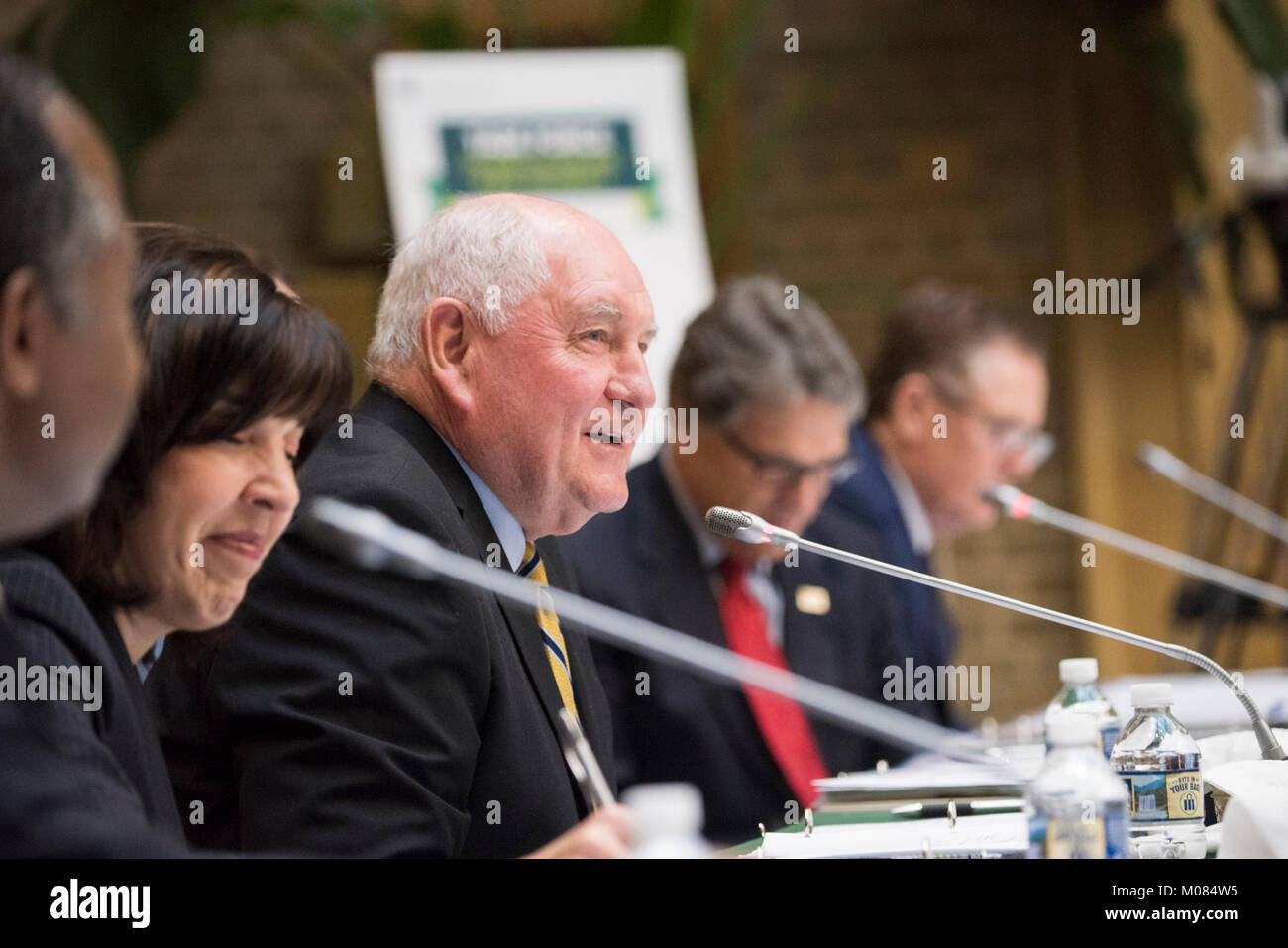 U.S. Department of Agriculture (USDA) Secretary Sonny Perdue hosts the inaugural meeting of the Interagency Task Stock Photo