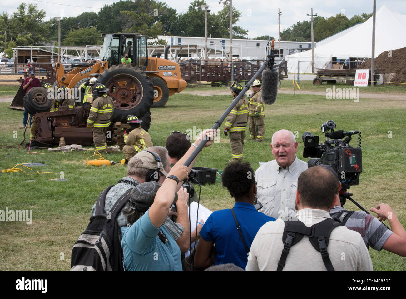 U.S. Department of Agriculture (USDA) Secretary Sonny Perdue and Mrs. Mary Perdue visit the Mississippi Valley Fair, - Stock Image