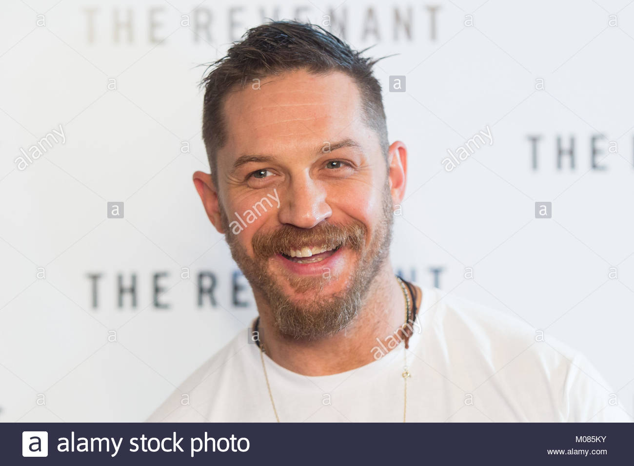 File photo dated 06/09/15 of Tom Hardy, as a rap mixtape made by the actor in the 1990s has appeared online - 19 - Stock Image