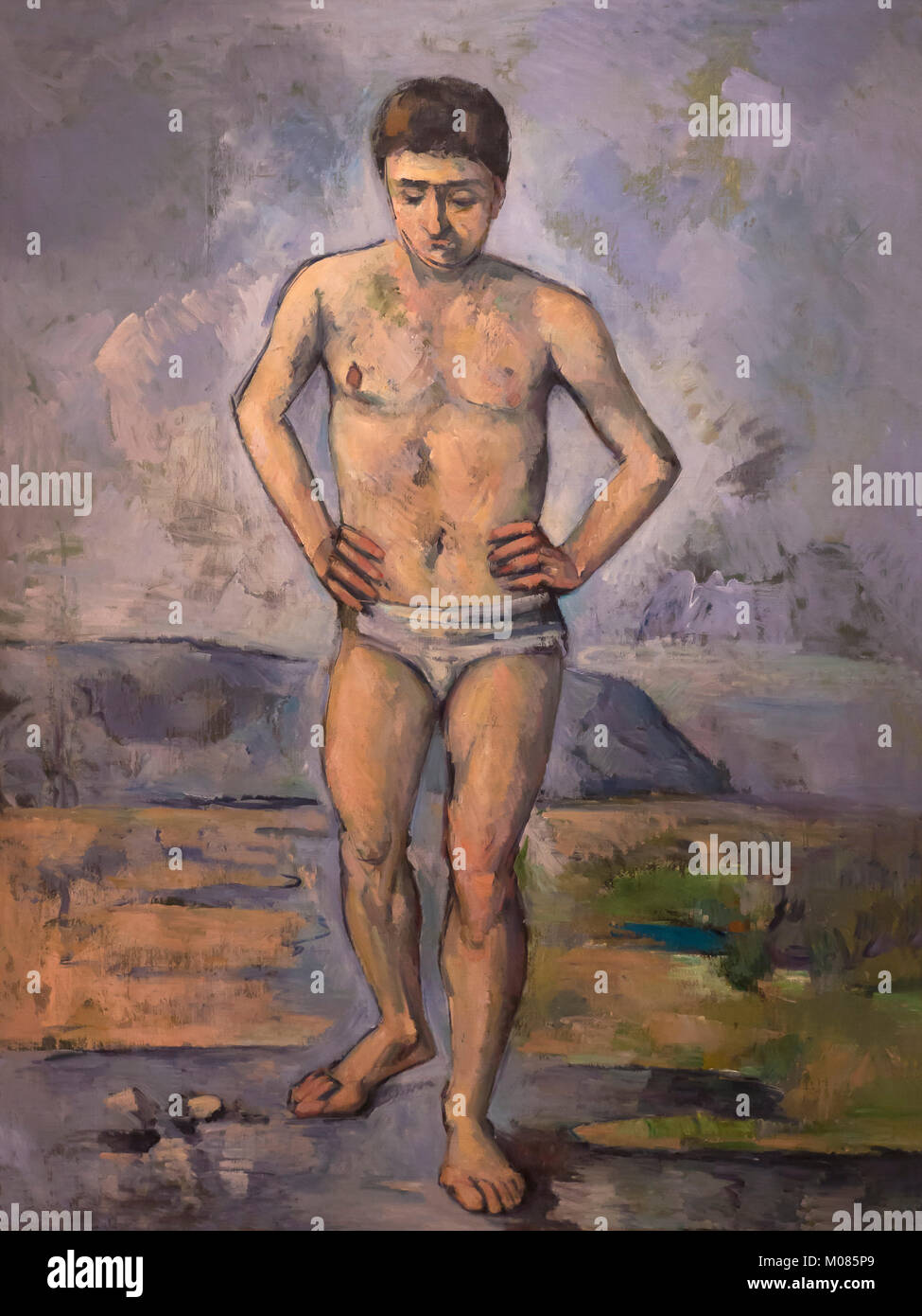 The Bather, Paul Cezanne, circa 1885, - Stock Image