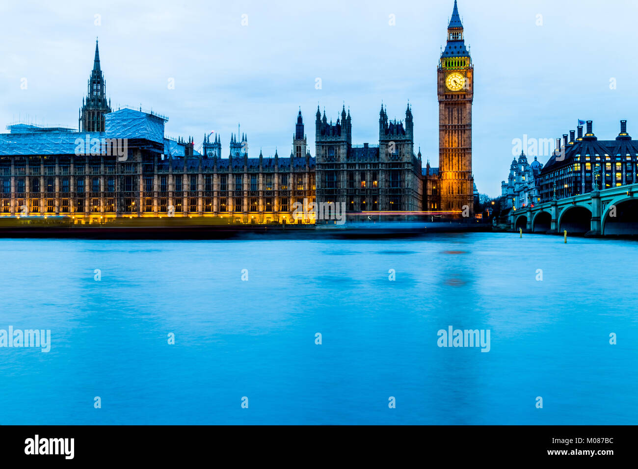 Big Ben, Houses of Parliament - Stock Image