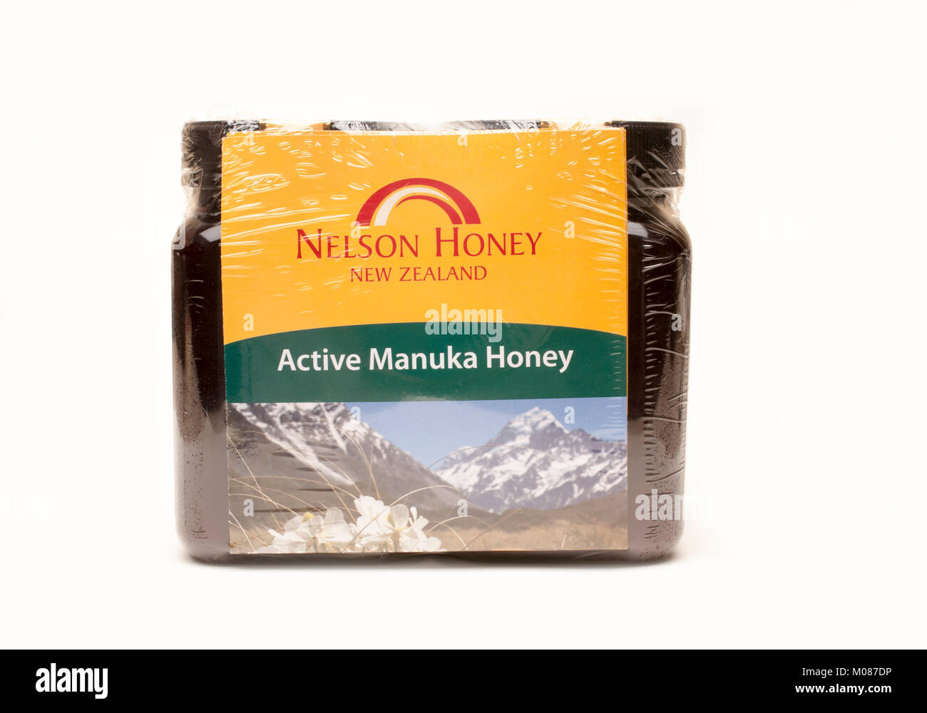 Multi Pack of Manuka Honey on a white background (Not Cut Out) - Stock Image