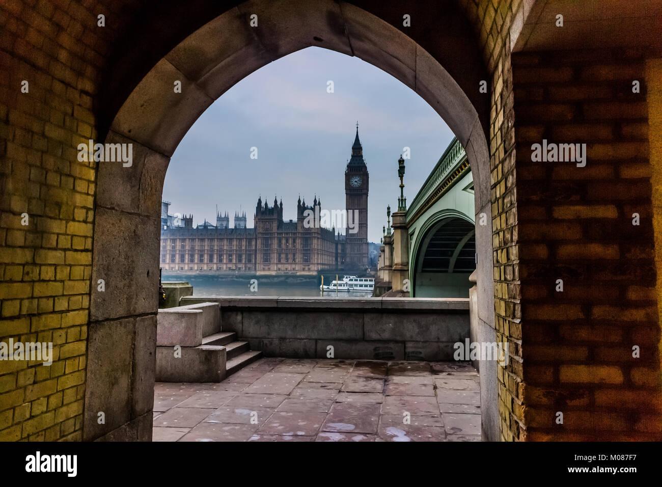 Houses of Parliament, Big Ben Stock Photo