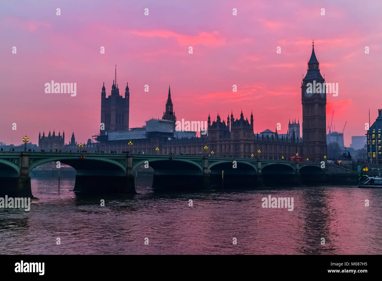 Big Ben, Houses of Parliament Stock Photo