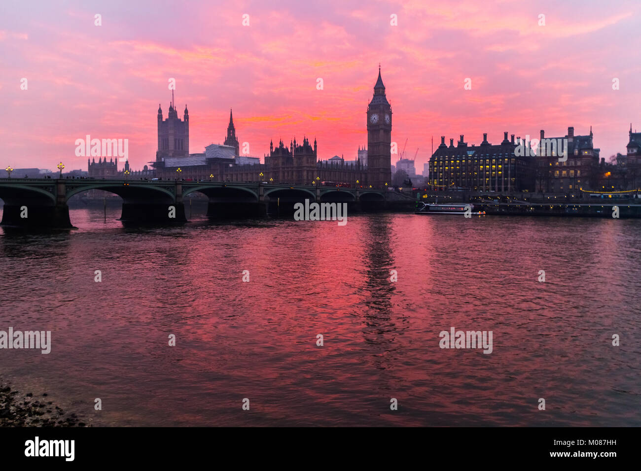 Houses of Parliament, Big Ben - Stock Image