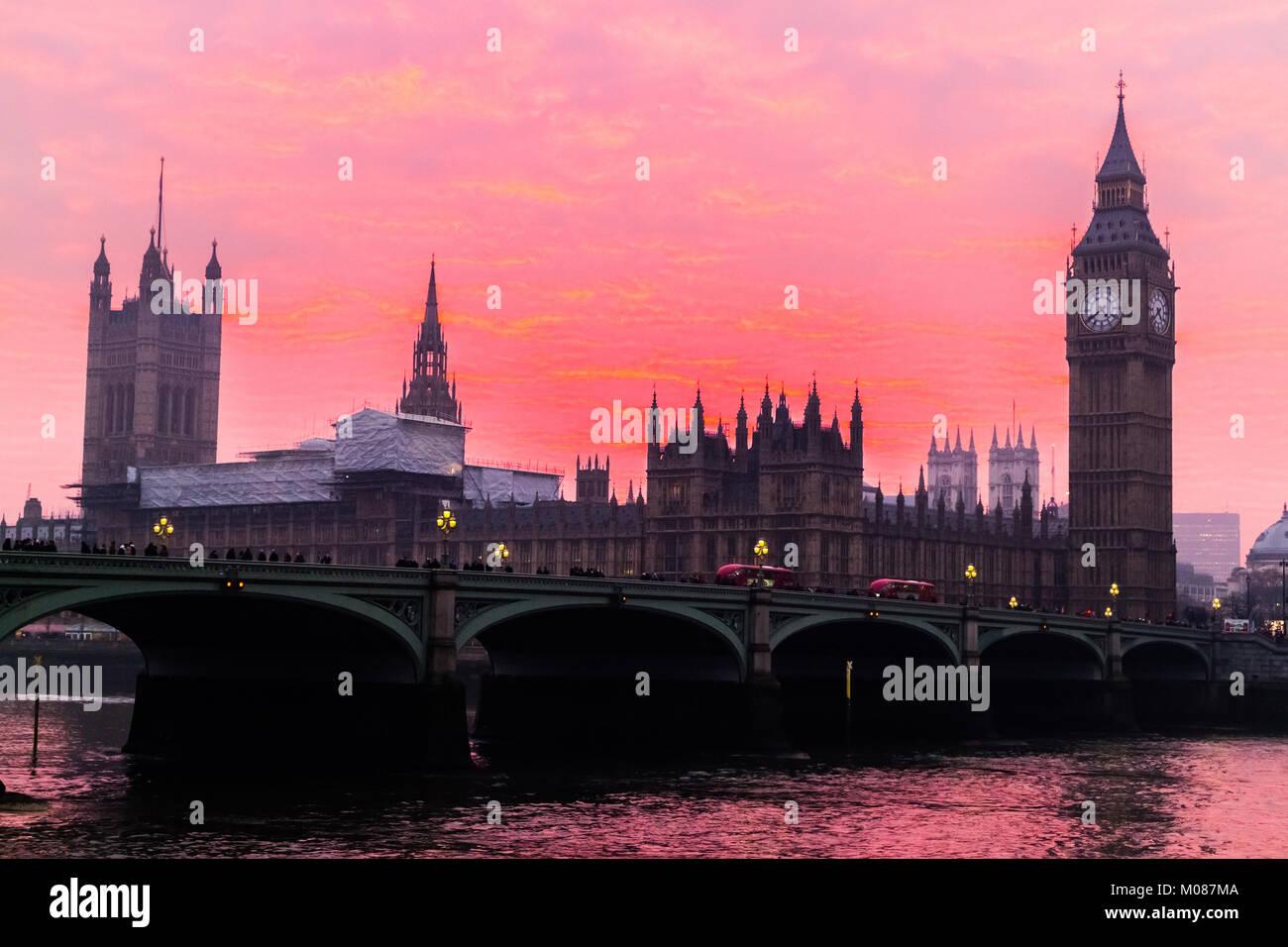 Big Ben, Houses of Parliament Stock Photo