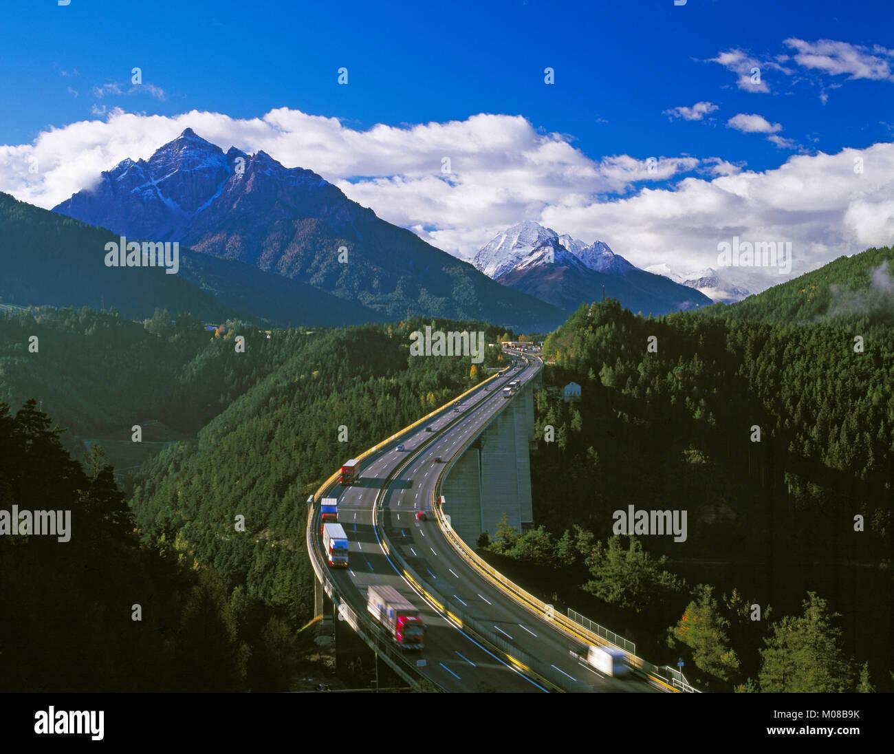 Europa Bridge on the Brenner Pass near Innsbruck, Tirol, Austria - Stock Image