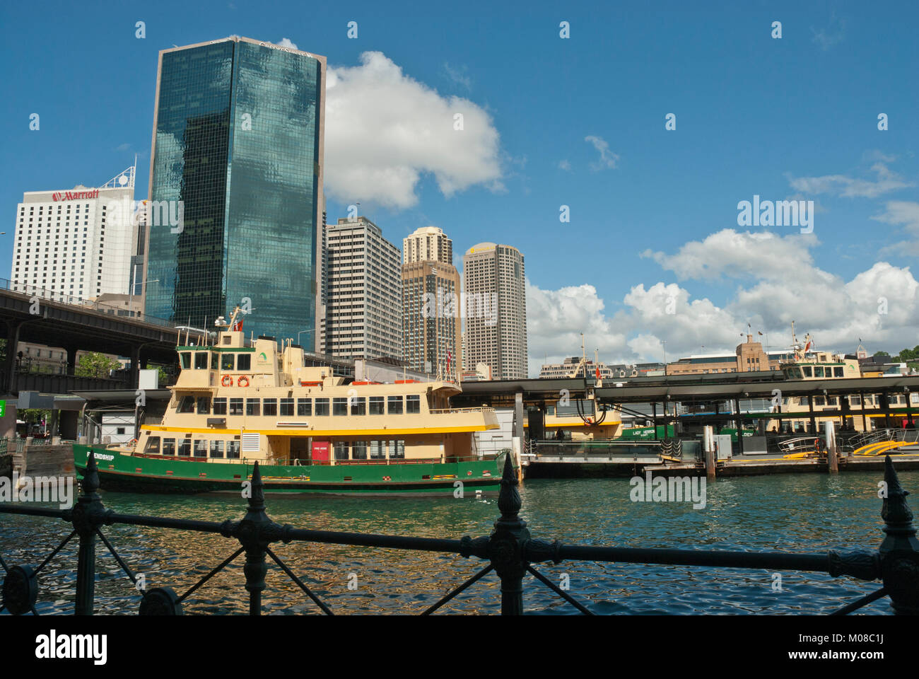 High rise City Business District CBD, Sydney, Australia with modern architecture, Gateway Plazza, and harbour / Stock Photo