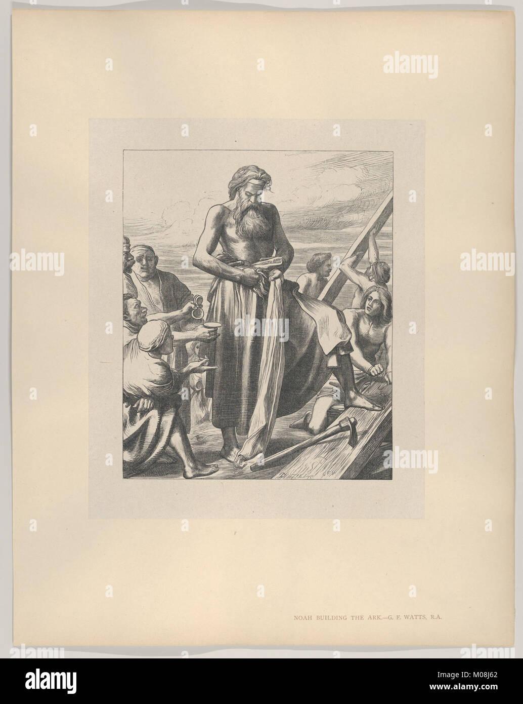Noah Building the Ark (Dalziels' Bible Gallery) MET DP835650 - Stock Image