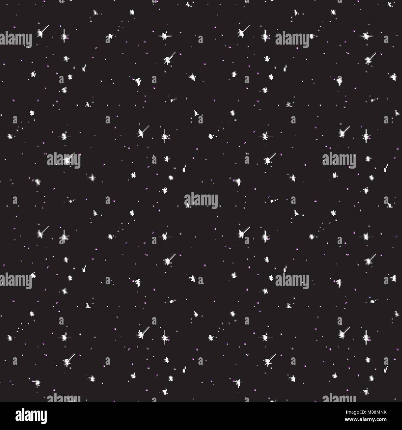 Seamless pattern galaxy. - Stock Vector