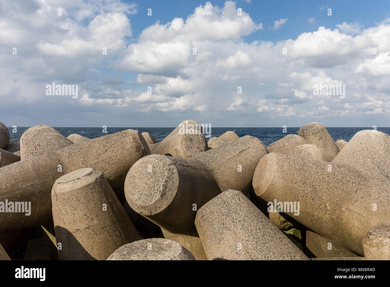Tetrapods on the coast of Japan; Chigocho, Shimane Prefecture - Stock Image