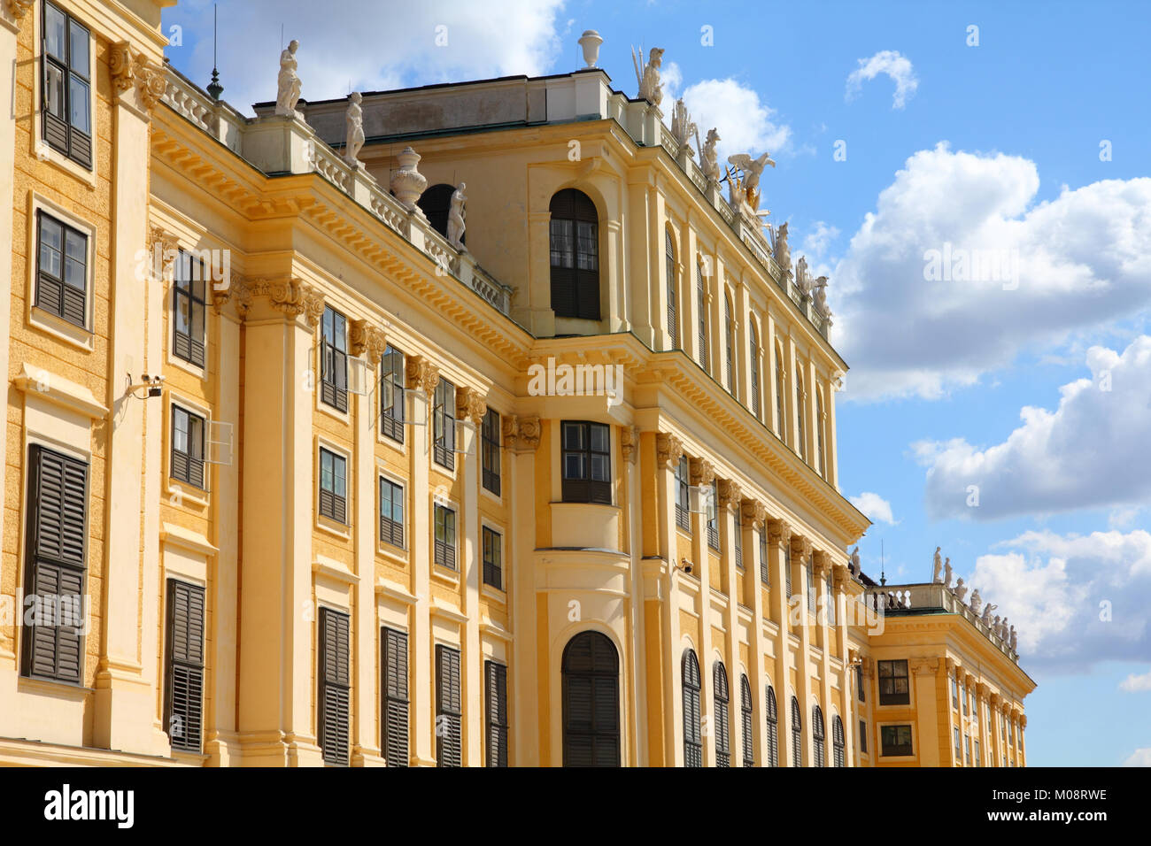 Vienna, Austria - Schoenbrunn Palace, a UNESCO World Heritage Site. - Stock Image