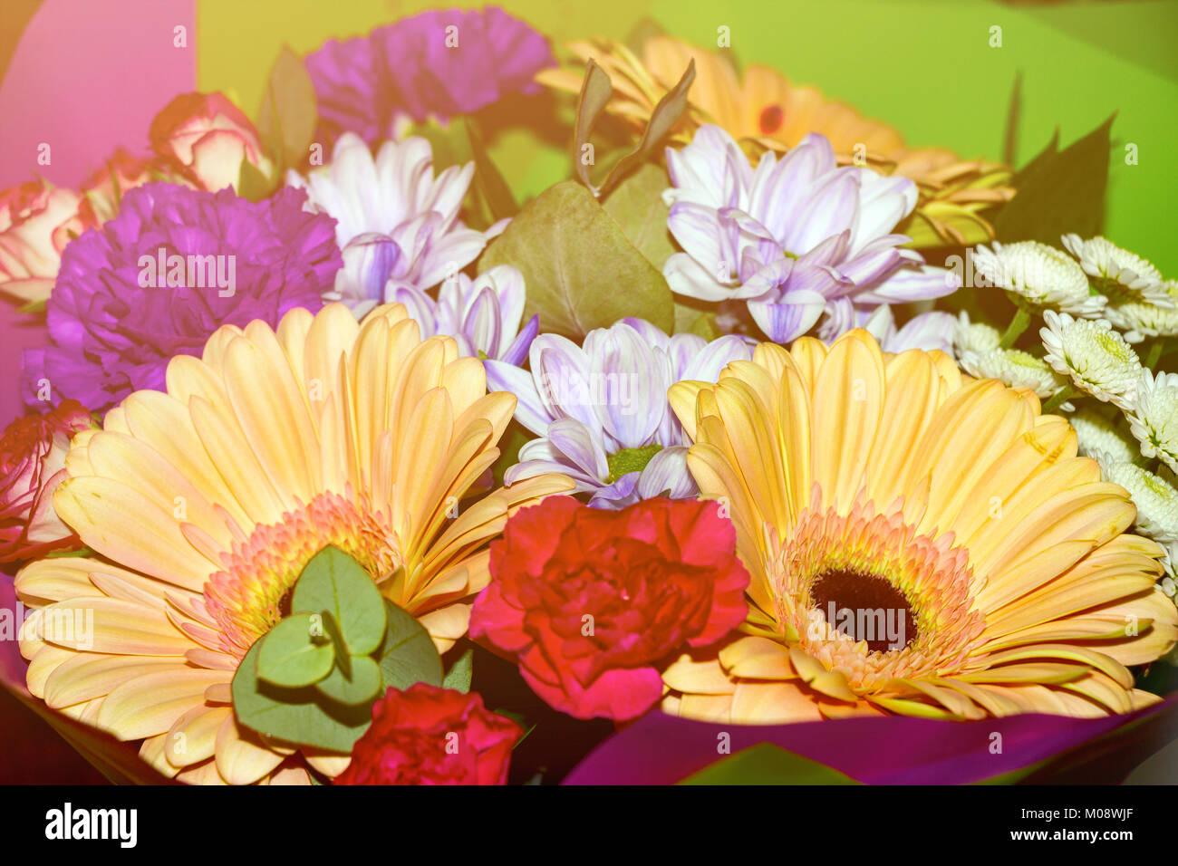 Bouquet of different flowers in sunlight stock photo 172299415 alamy bouquet of different flowers in sunlight izmirmasajfo