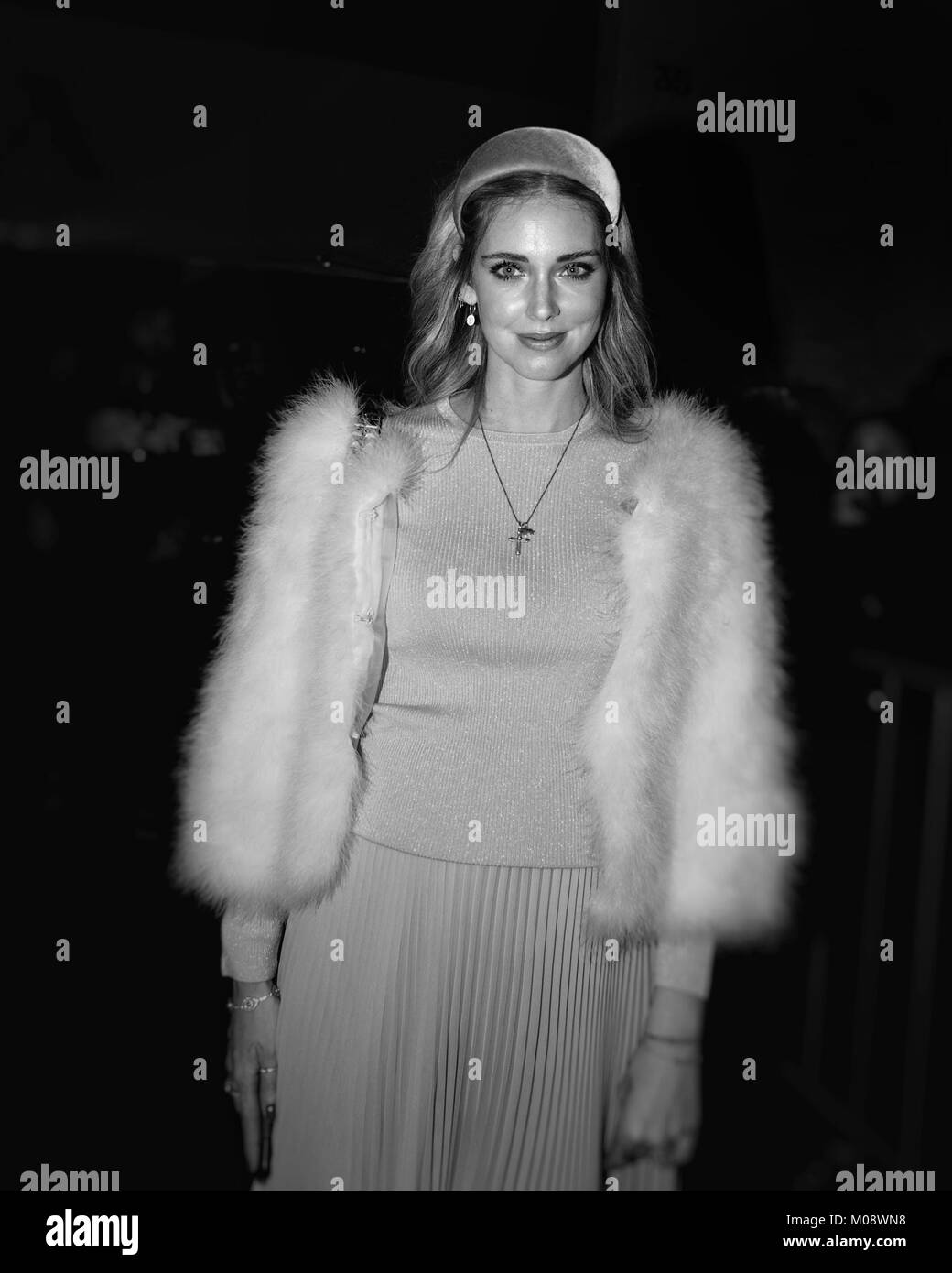 Guest attending Milano Fashion Week Show Man January 2018 - Stock Image