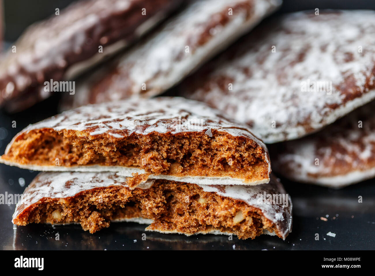 Round Lebkuchen (german gingerbread cookies) - Stock Image