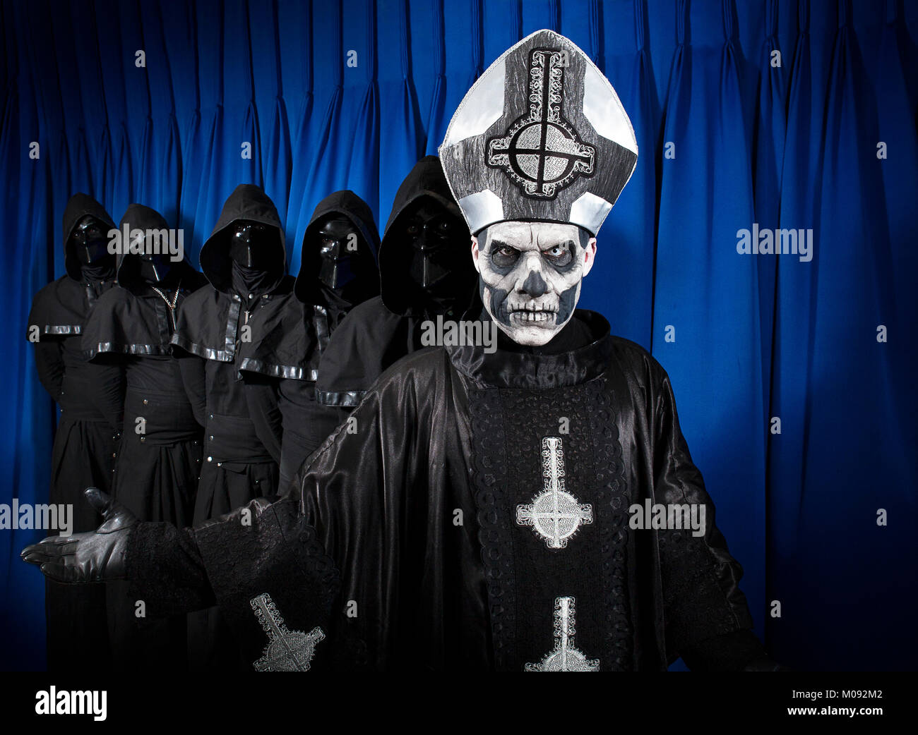 The Swedish Heavy Metal Band Ghost Originates From Linkoping And Is Stock Photo Alamy