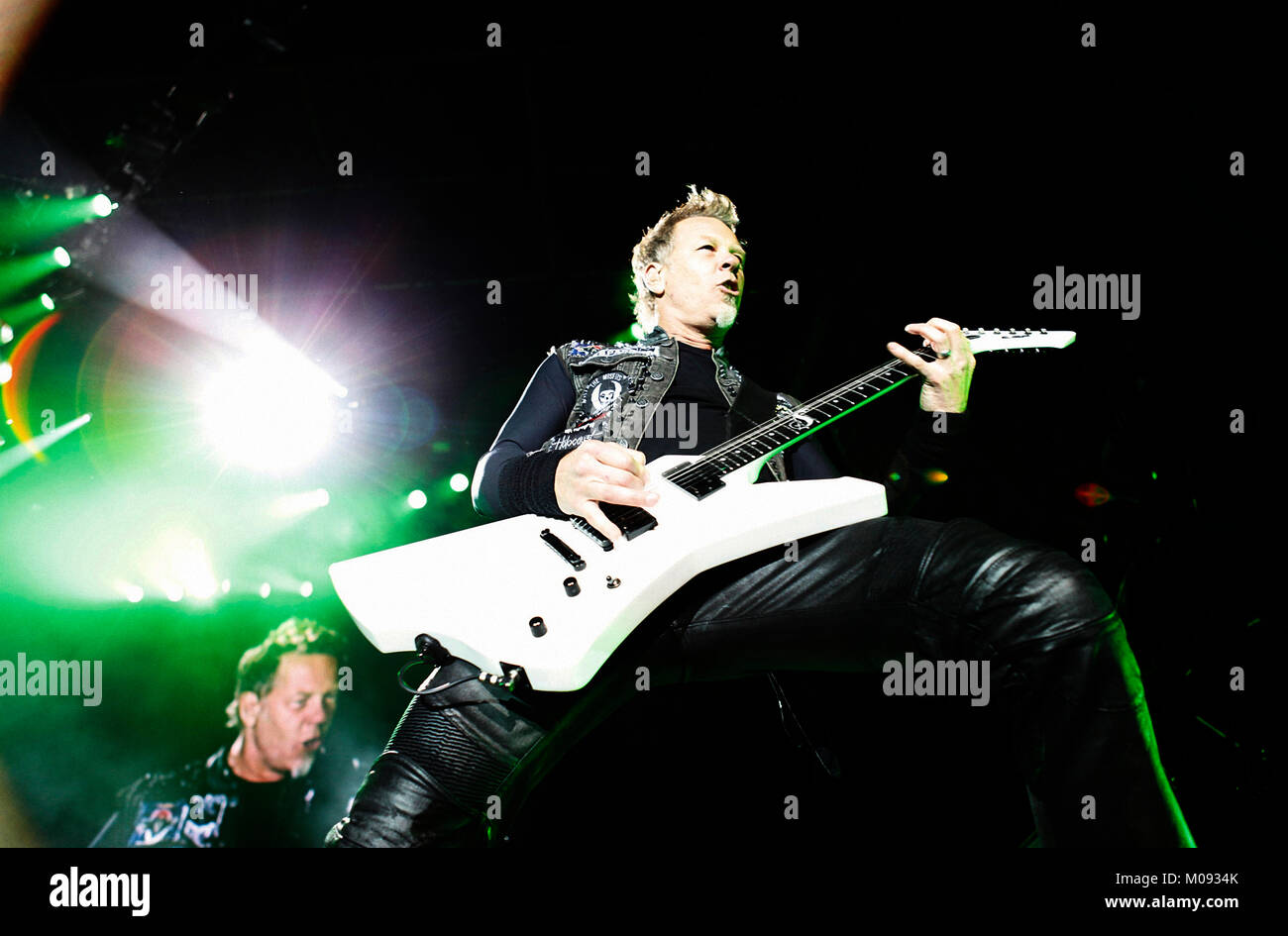 The American heavy metal band Metallica performs a live
