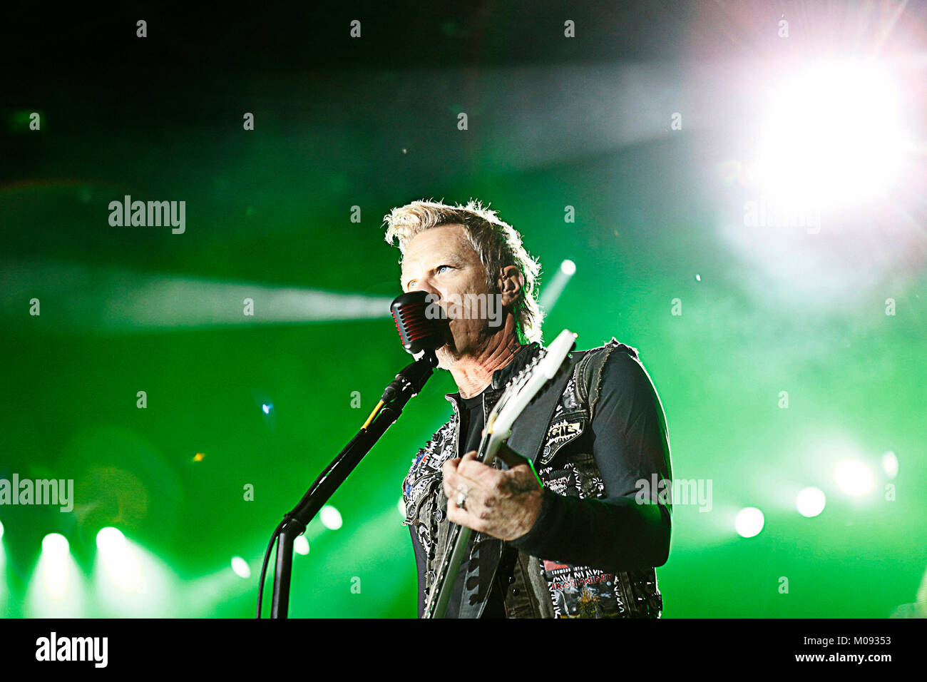 The American heavy metal band Metallica performs a live concert at