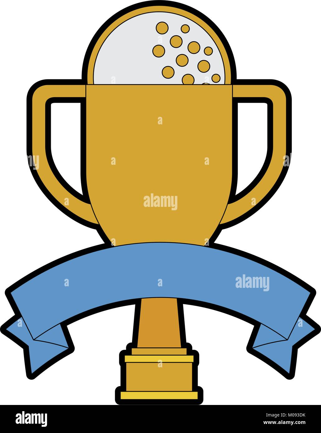 Golf Trophy Cup Championship Award Icon Vector Illustration Design Stock Vector Image Art Alamy