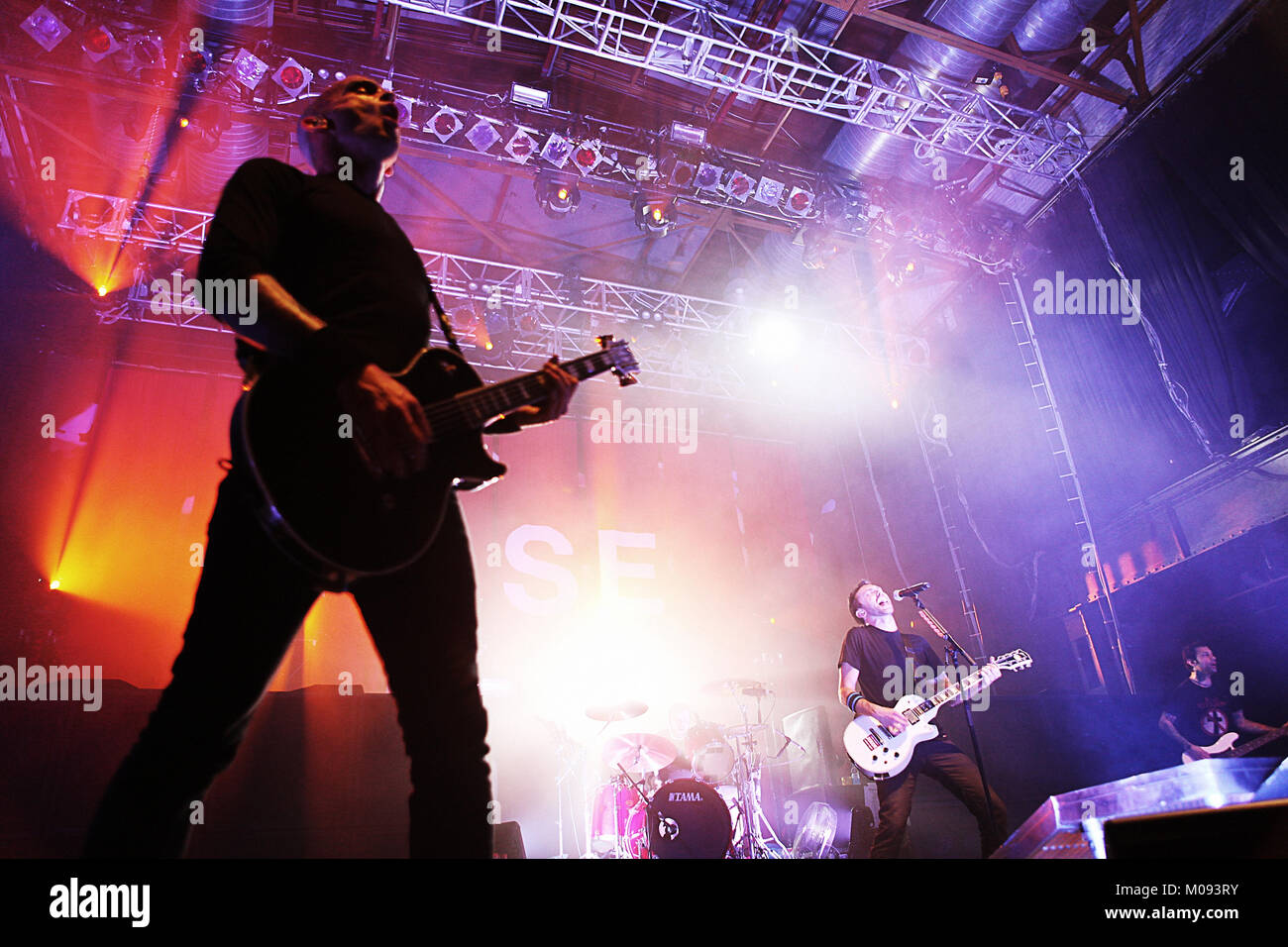 The American punk band Rise Against performs a live concert at Palladium in Cologne. Here vocalist and guitarist - Stock Image