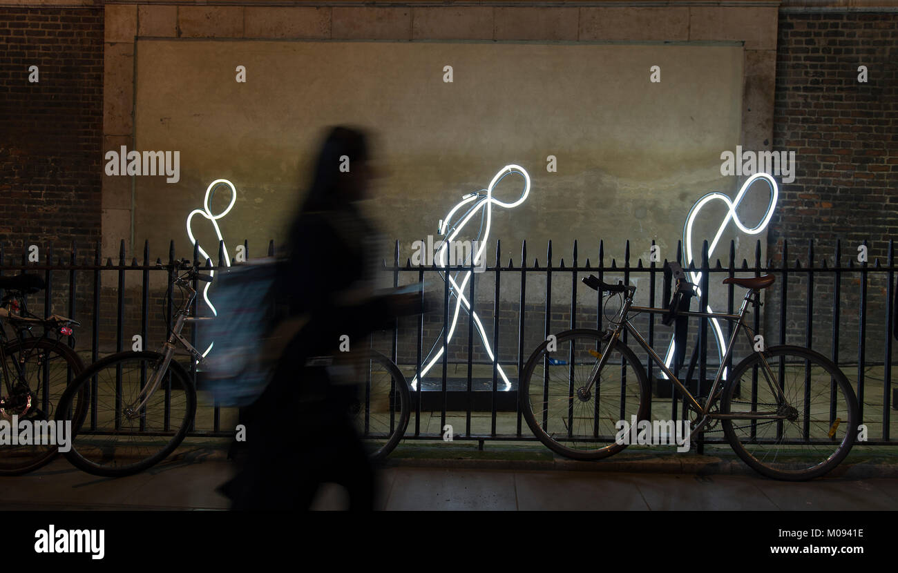 18 Jan 2018. Lumiere London. 'My Light is Your Light' by Alaa Minawi in St James's Churchyard. Credit: - Stock Image