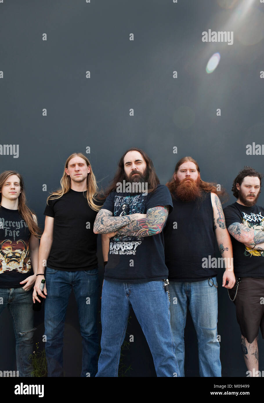 The American heavy metal band Skeletonwitch originates from Ohio and is here pictured at a live tour in Europe. - Stock Image