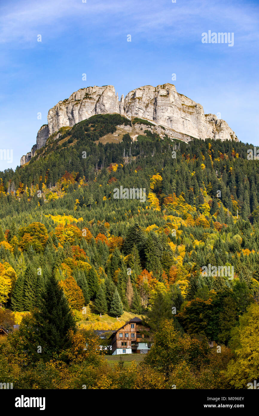 the Loser mountain, in the Ausseerland, near  Bad Aussee, Styria, Austria, - Stock Image