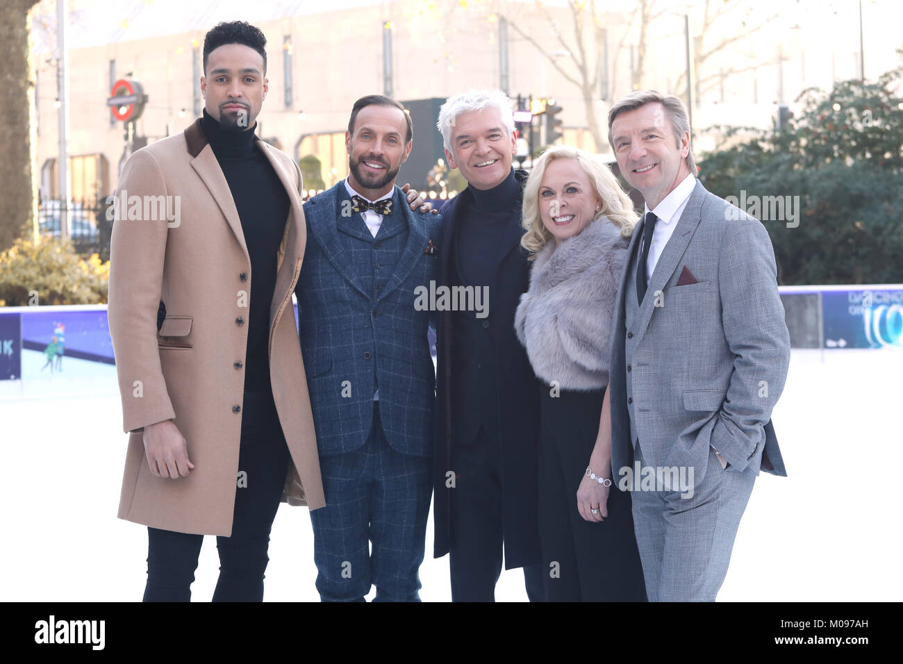 Dancing On Ice Photocall Held At The Natural History Museum Stock Photo Alamy
