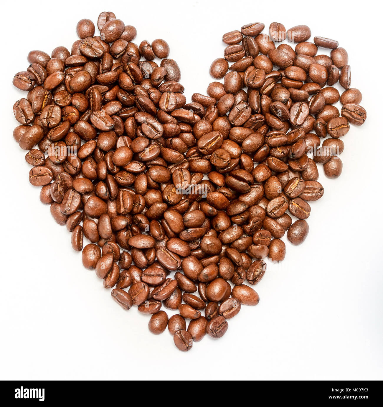 Coffee Beans Heart Meaning Hot Drink And Roasted Stock Photo